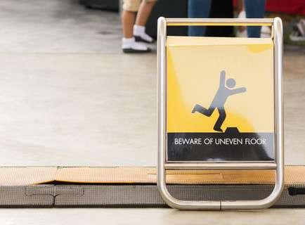 dangerous uneven floor